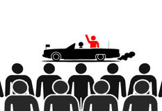 Red leader in limousine Stock Photography