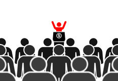 Red leader on the podium Royalty Free Stock Image
