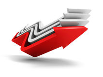 Red Leader Rising Up Arrow Of Concept Team Group Royalty Free Stock Image