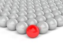 Red leader on white background stock illustration