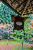 Red leaf and roof inside Kotoin temple, Kyoto Royalty Free Stock Photography