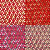 Red Leaf Seamless Abstract Pattern Royalty Free Stock Image