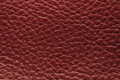 Red leather. Close up red leather picture for background Royalty Free Stock Photography