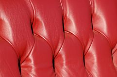 Red leather!. Plush red leather seats from a restored veteran car Stock Photos