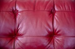 Red Leather Stock Photo