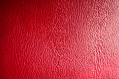 Red Leather. Focus on center Royalty Free Stock Photo
