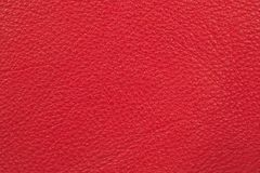 Red leather. Furniture upholstery leather of red color Royalty Free Stock Image