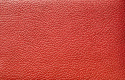 Red leather. Close up view of leather great as a background Stock Images