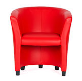 Red leather armchair Stock Photos