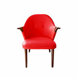 Red leather armchair Stock Image