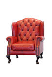 Red leather armchair Royalty Free Stock Photography