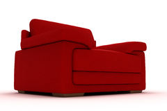 Red Leather Armchair Royalty Free Stock Images