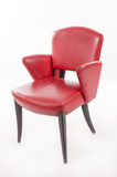 Red leather armchair Royalty Free Stock Photo