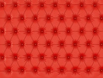 Red leather background with buttons. 3d render stock illustration