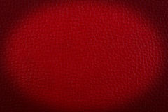 Red leather a background. Royalty Free Stock Photography
