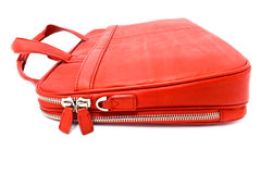 Red leather bag Stock Photography