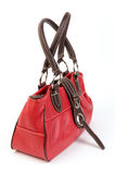 Red leather bag Royalty Free Stock Photography