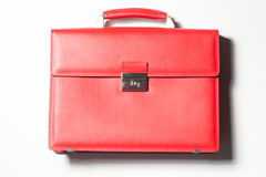 Red leather bag Royalty Free Stock Image