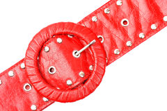 Red leather belt Stock Image