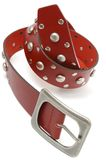 Red leather belt Royalty Free Stock Photo