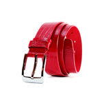 Red Leather Belt Stock Photography