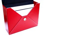 Red leather box Royalty Free Stock Photos