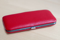 Red Leather Box Royalty Free Stock Photography