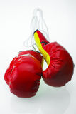 Red leather boxing gloves  , Boxing gloves background, popular sport for fighter Royalty Free Stock Image