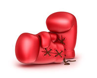 Red leather boxing gloves Royalty Free Stock Photo