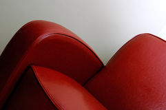 Red leather chair Stock Photography