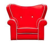 Free Red Leather Chair Isolated Stock Photo - 104605220