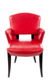 Red leather chair Stock Images