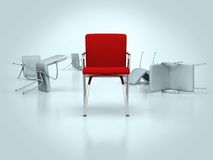 Red leather chair Stock Photo