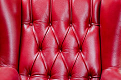 Red Leather Chair Texture. Classy Red Leather Chair Texture Closeup With High Contrast Stock Image
