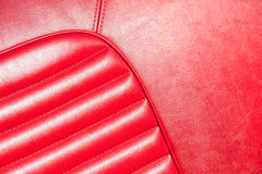 Red leather closeup Stock Images
