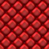 Red leather couch material Stock Photography