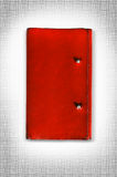 Red leather cover of diary isolate is on white background Stock Photography