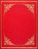 Red leather cover Royalty Free Stock Photography
