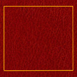 Red leather cover Stock Images