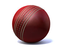 Cricket Ball. An red leather cricket ball isolated on a white background Stock Image