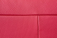 Red leather detail Stock Photography