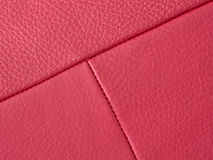 Red leather detail Royalty Free Stock Images