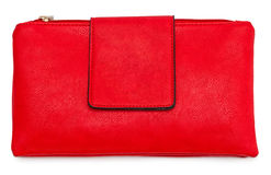 Red leather female bag Stock Images