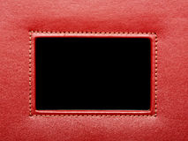 Red leather frame Stock Photography