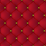 Red leather furniture Royalty Free Stock Photo