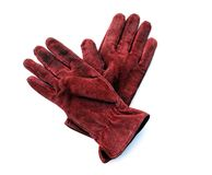 Red Leather Gloves Royalty Free Stock Photos