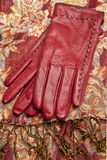 Red Leather Gloves Royalty Free Stock Images