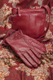 Red Leather Gloves and Purse Royalty Free Stock Images