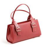 Red leather handbag Royalty Free Stock Photos