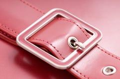 Red leather handbag Royalty Free Stock Photo